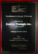 2017 Raising the Bar Award - Consumers Energy for Ecology Products aka Blown Insulation