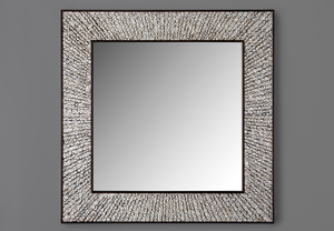 Caragh Mirror In Pheseant Feathers