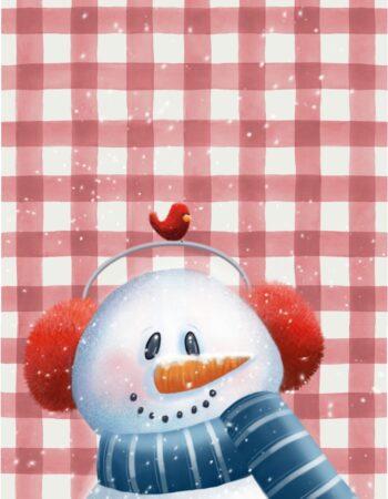Plaid Buddy Snowman