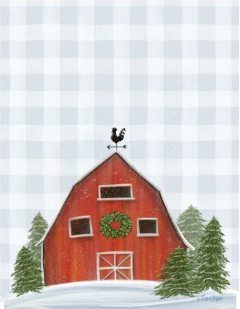 Plaid Buddy Christmas Barn