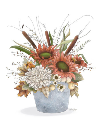 Fall Floral Bucket