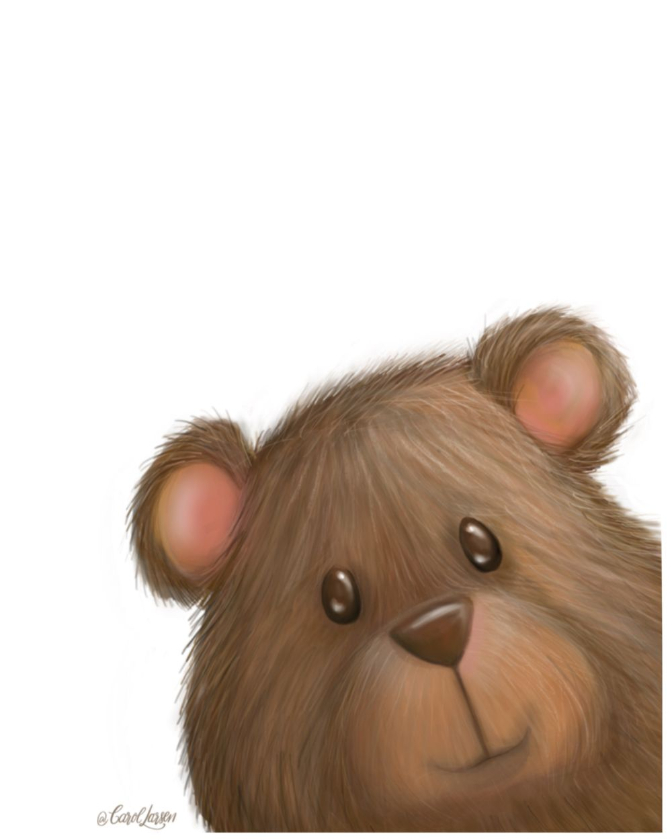 Name-Bear on White Background_Tag-Animals_Collection-All Seasons