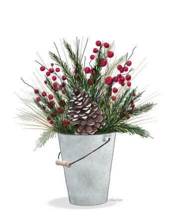 Winter Christmas Bucket