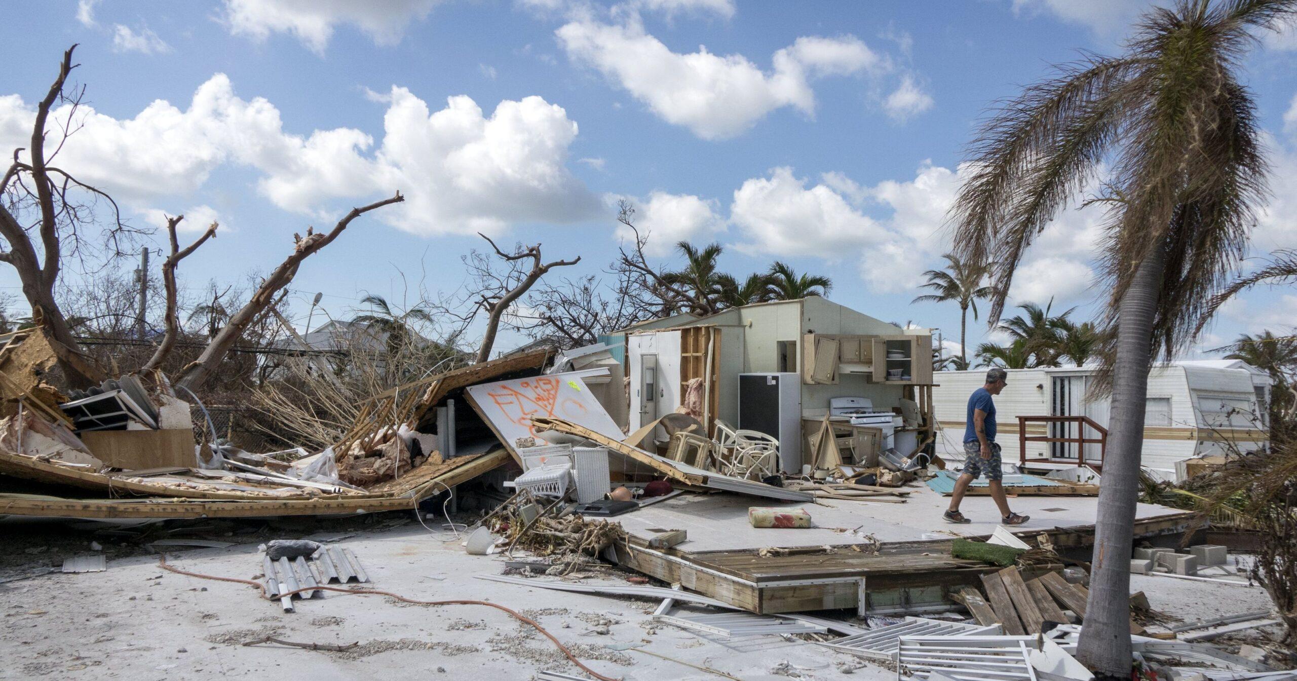 Home damage after Hurricane Irma