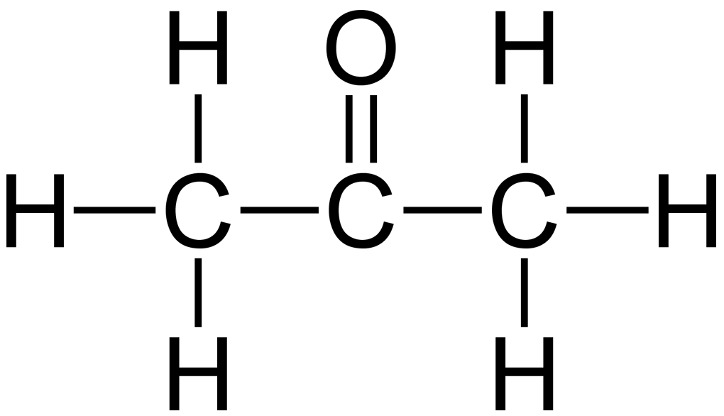 Structural-Formula-of-Acetone