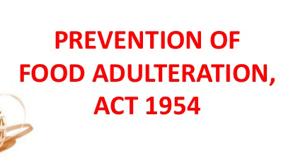 Food Adulteration Act