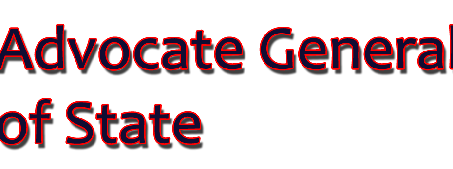Advocate General of State