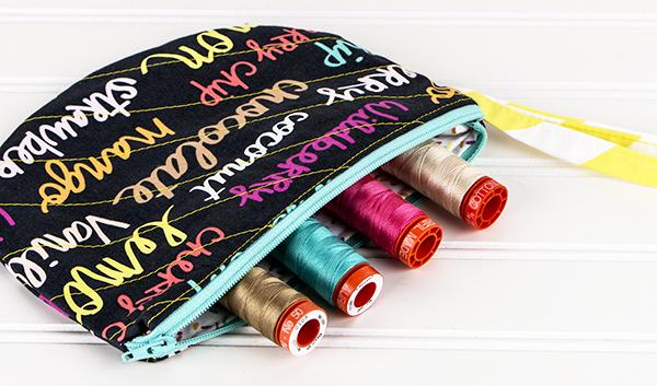 Semi-Circle Zipper Bags