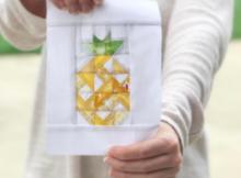 Pineapple Smoothie Block   Free Quilt Block Pattern