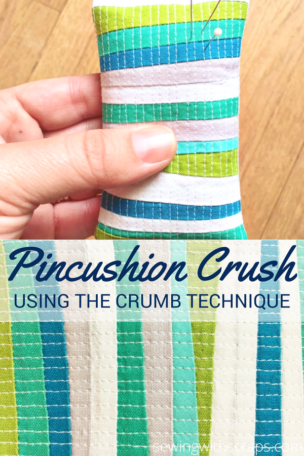 It's the technique that makes this pincushion crumb crush so amazing! It's all about using small leftover scraps.