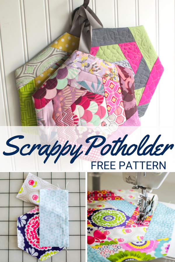Perfect your quilting skills with this free scrap happy potholder pattern. It is easy to make and great for using scraps from your stash.