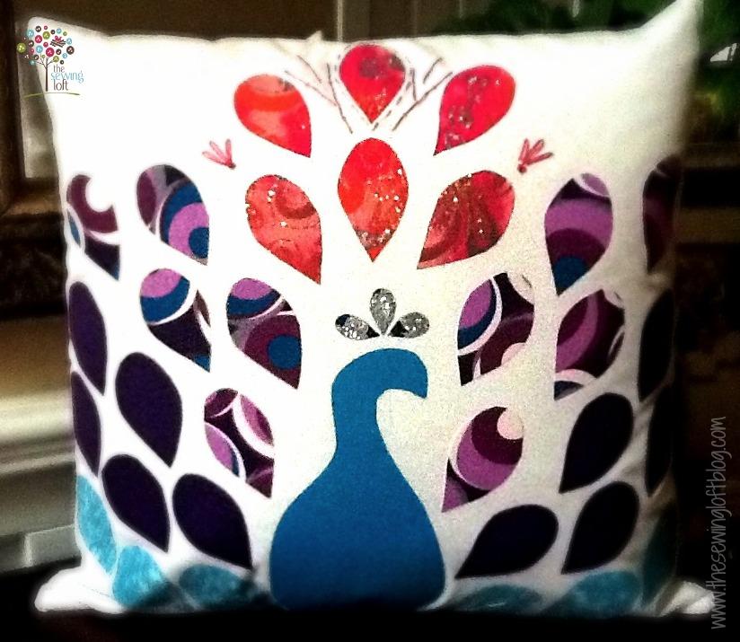 Pretty Peacock Applique Pillow | Free Pattern