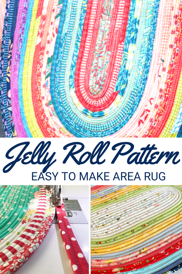 Turn your jelly roll pieces into a one of a kind spiral accent rug for your space. They are easy to make and perfect for beginners.