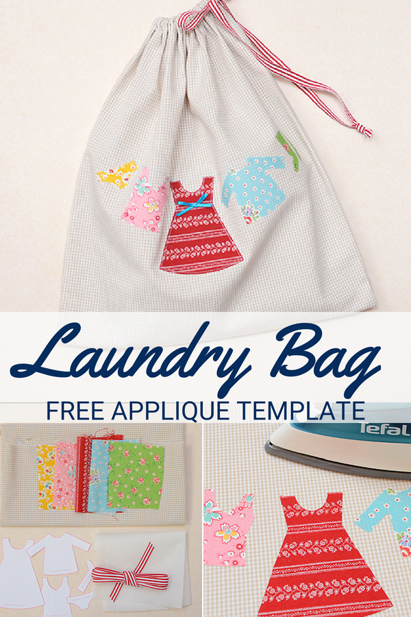 When on vacation, keep your clothes separated with this free travel laundry bag pattern.