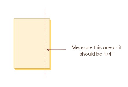 Check your seam allowance with these easy tips from The Sewing Loft