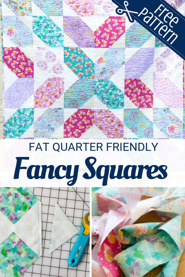 Grab your fat quarters and get ready to finish this Fancy Squares Quilt fast.