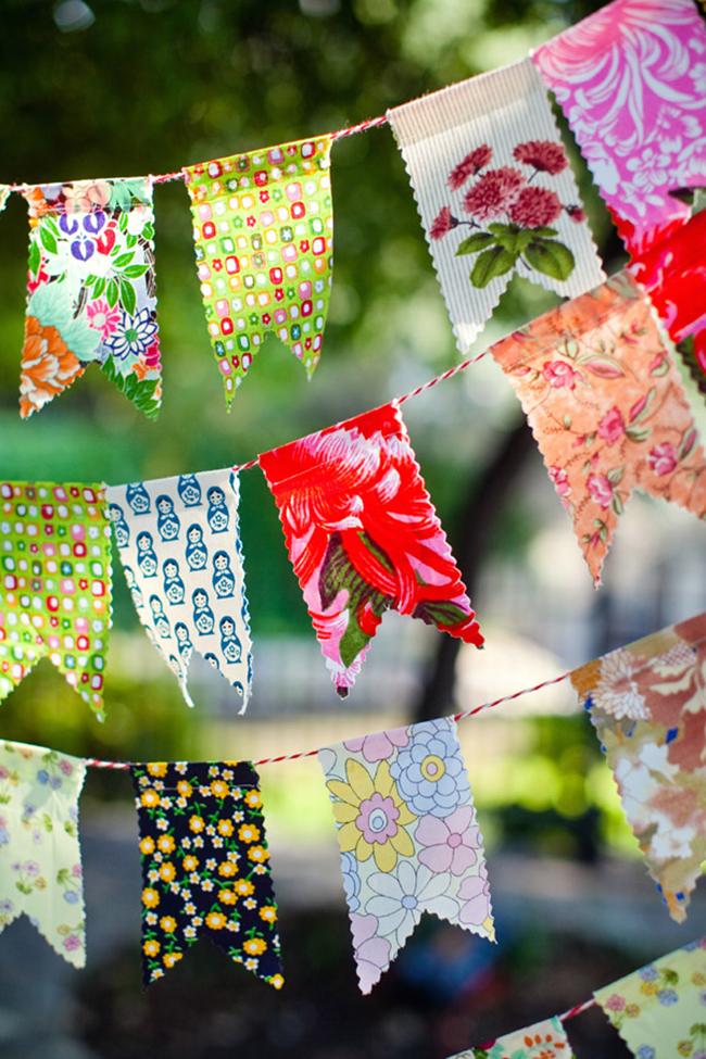DIY fabric bunting