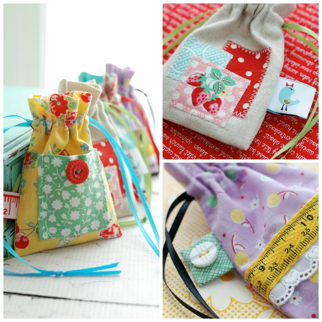 Embellished Drawstring Pouch Tutorial