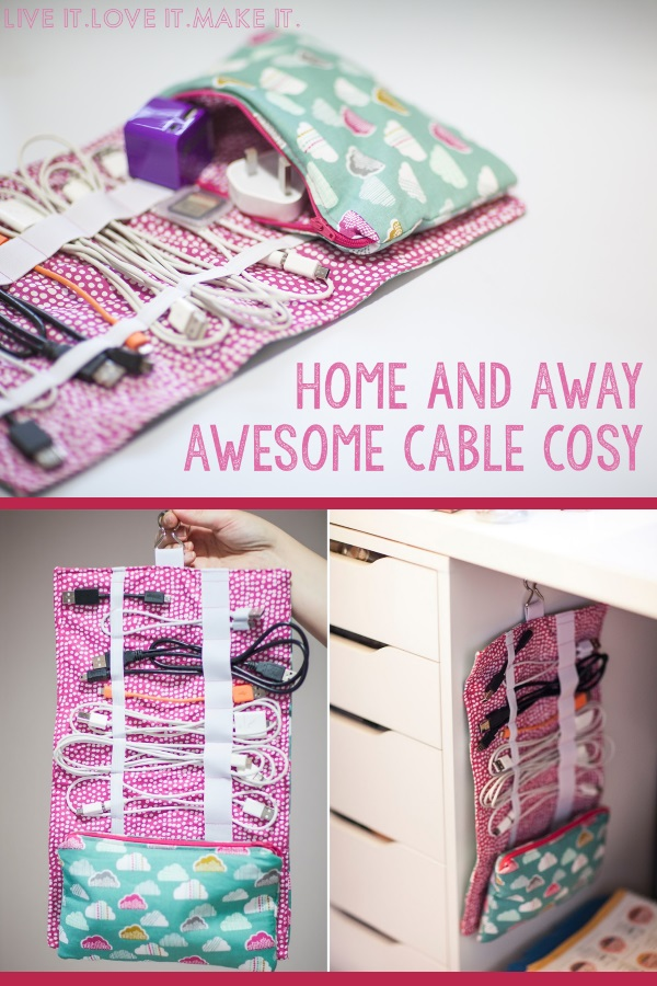 Home and Away Cable storage pouch.