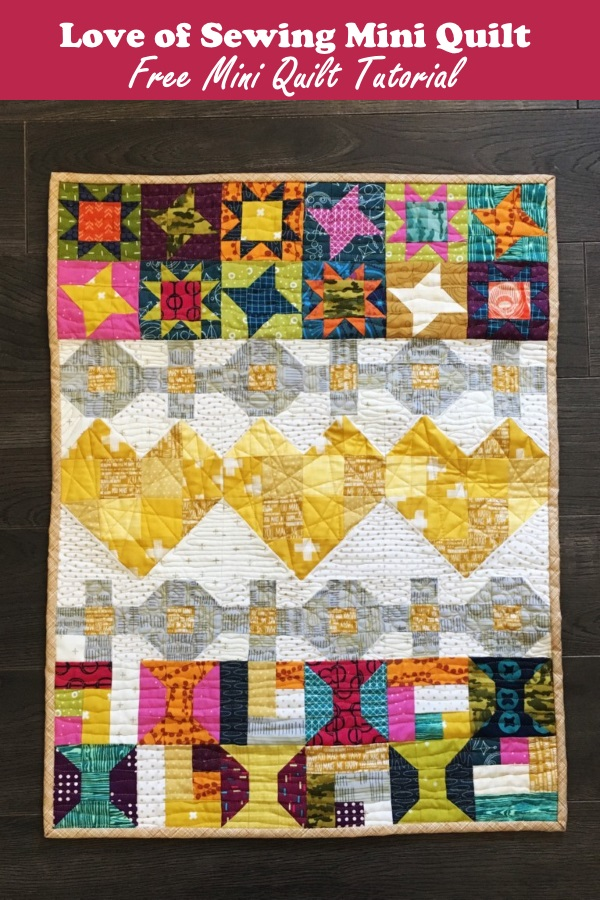 Love of Sewing Mini Quilt Free Tutorial