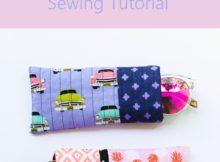 Free quilt as you go sunglasses case tutorial