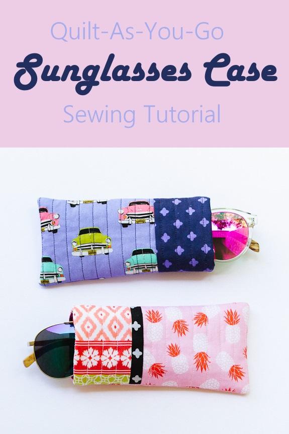 Quilt as you go sunglasses case tutorial