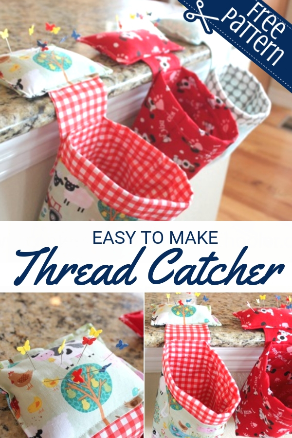 Free Thread Catcher Tutorial with pin cushion | Sewing with Scraps