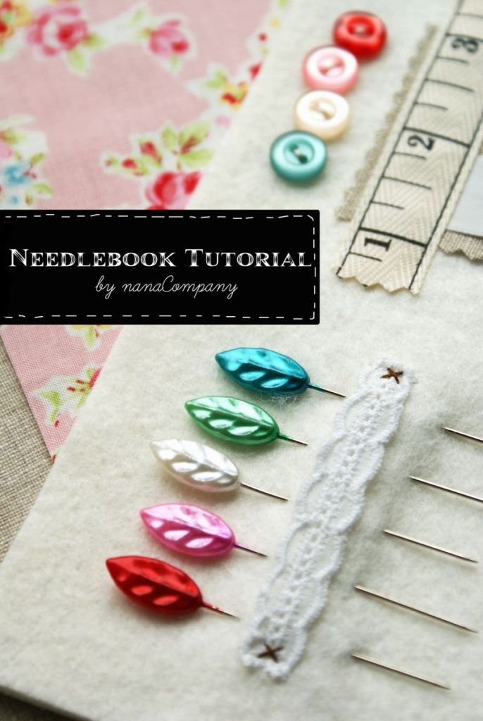 Needle case sewing tutorial