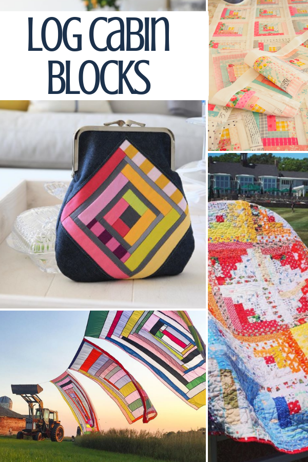 Log Cabin Quilt Blocks | Sewing with Scraps