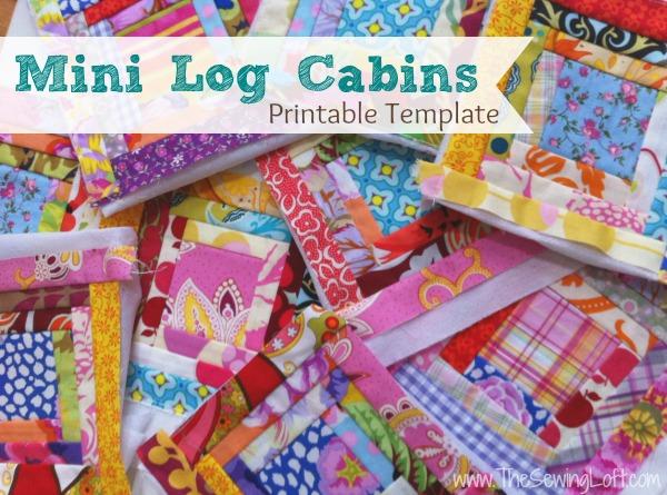 Mini Log Cabin Quilt Blocks
