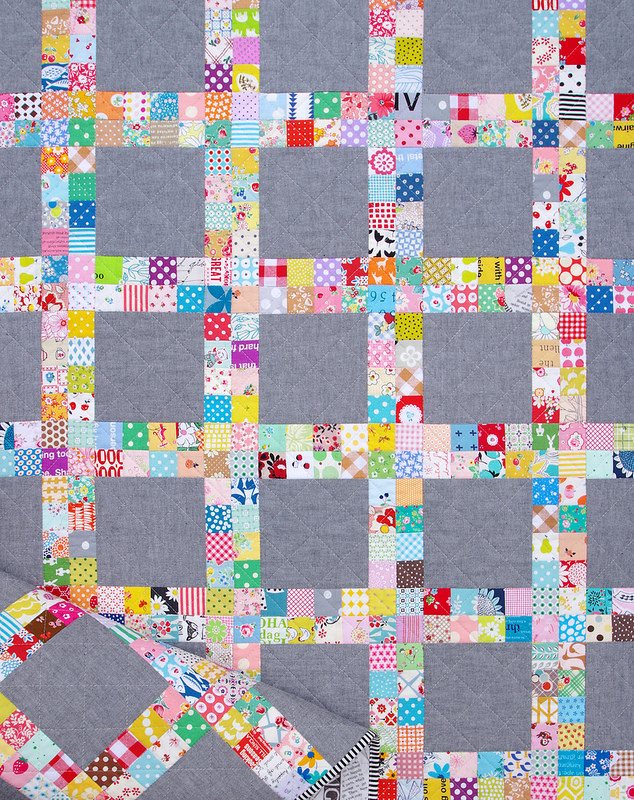 Chambray Postage Stamp Quilt
