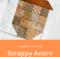 Free Scrappy Acorn Quilt Block