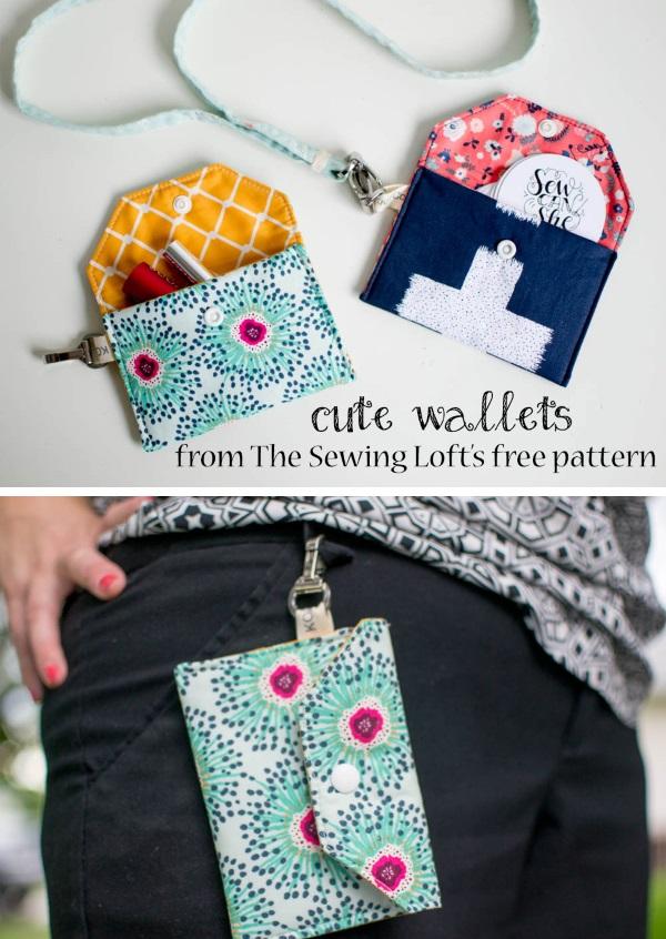 Free Mini Wallet Sewing Pattern