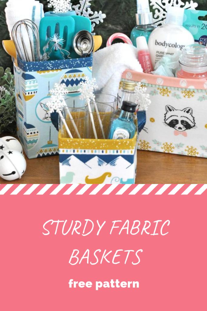 Sturdy Fabric Baskets - Free Pattern