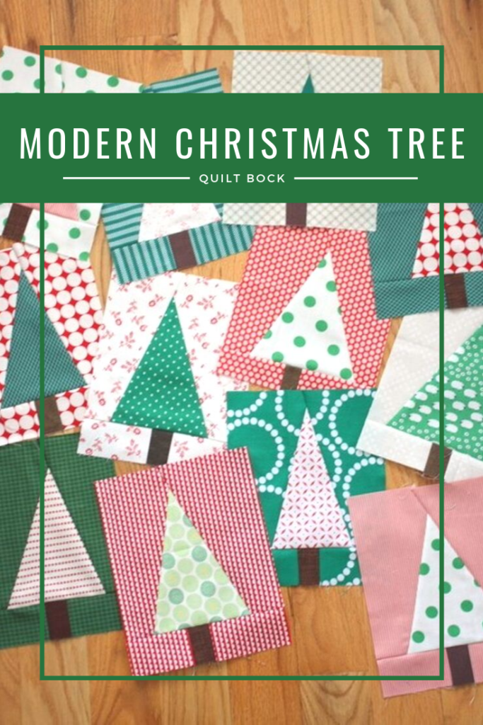 Modern Christmas Tree Quilt Block