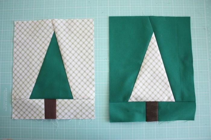Modern Holiday Tree Quilt Block