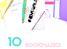 10 Bookmarks to Make with Fabric Scraps