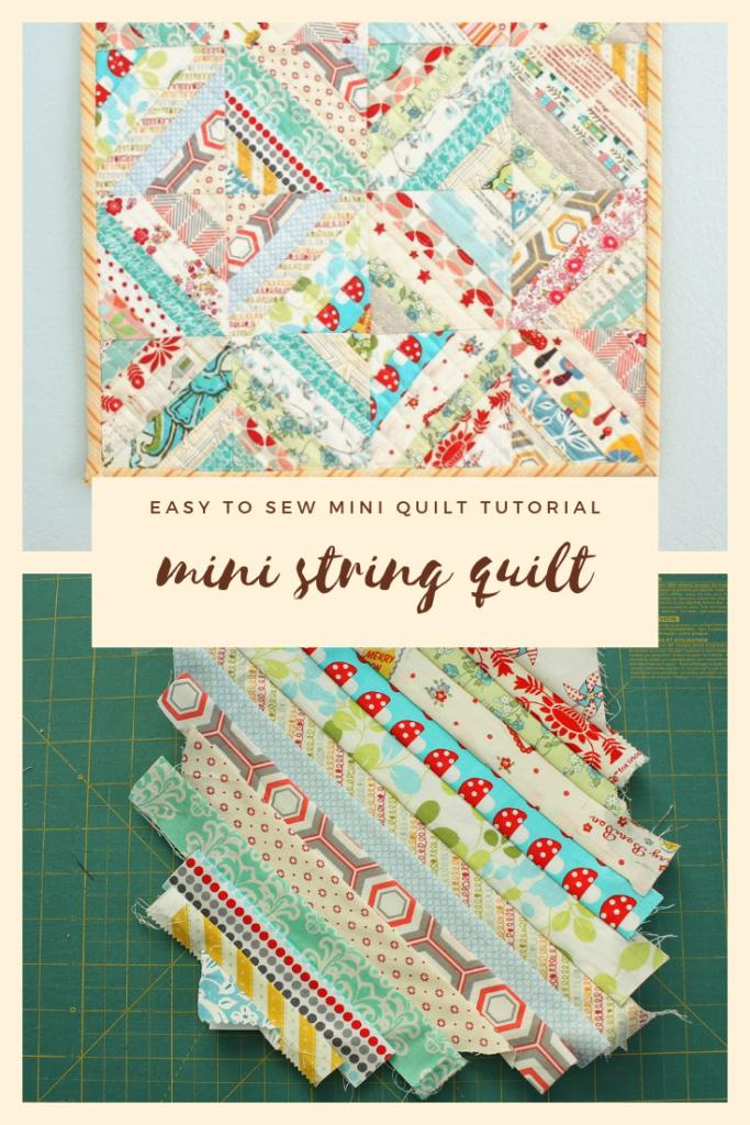 Mini String Quilt Tutorial