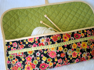 Portable knitting and crochet pouch. Perfect for travel!