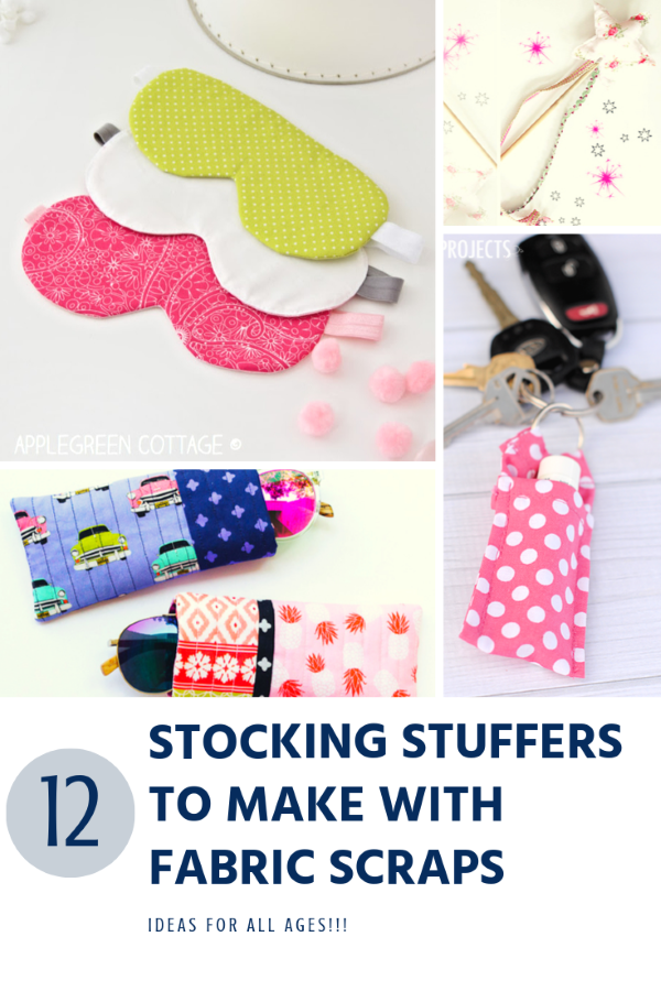 12 Stocking Stuffers to make with fabric scraps