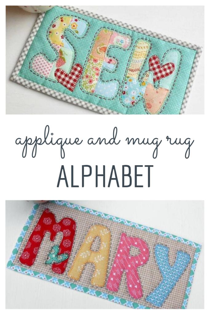 applique and mug rug alphabet
