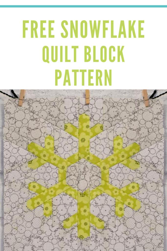 Free Snowflake Quilt Block