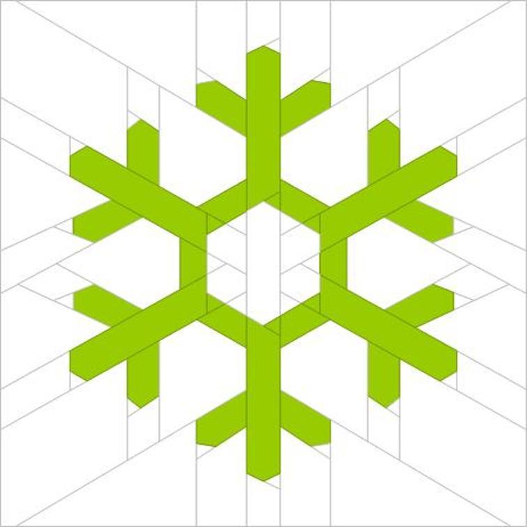 free snowflake paper piecing quilt block