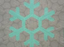Free Snowflake Quilt Block | Sewing with Scraps