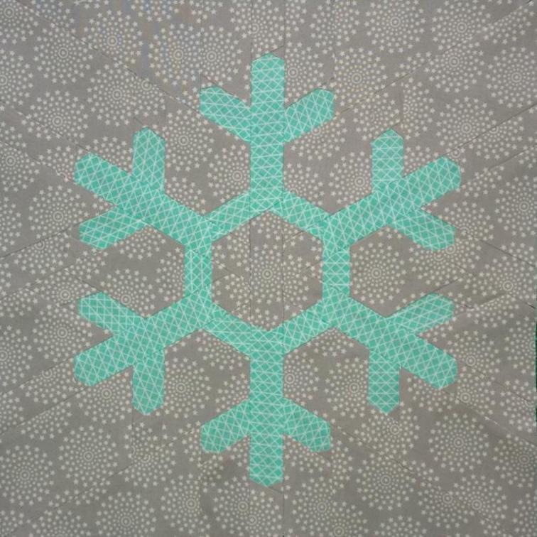 Free Snowflake Quilt Block Pattern