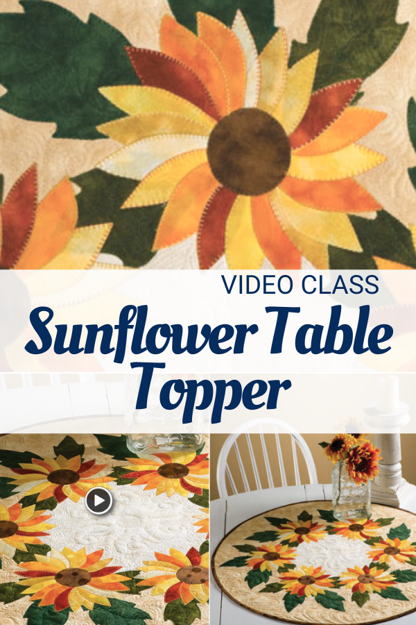 Spinning Sunflowers Table Topper video class