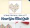 Heart You Mini Quilt Tutorial