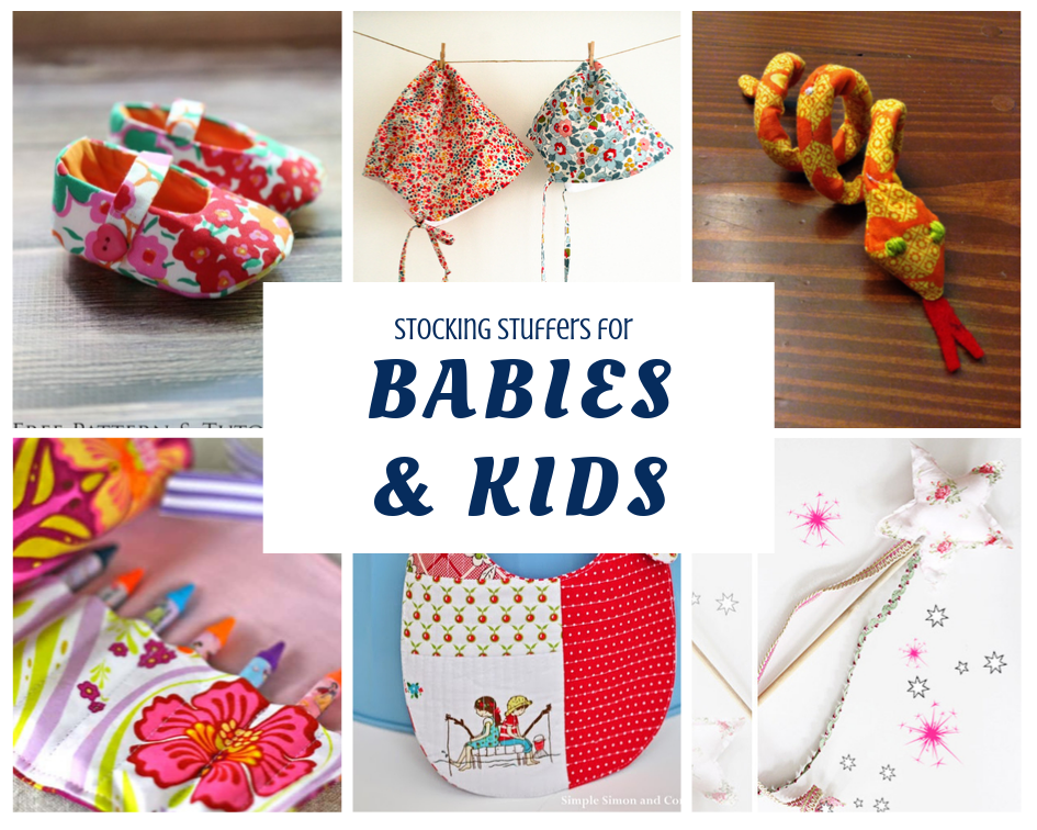 Stocking Stuffers to make for babies and kids with fabric scraps