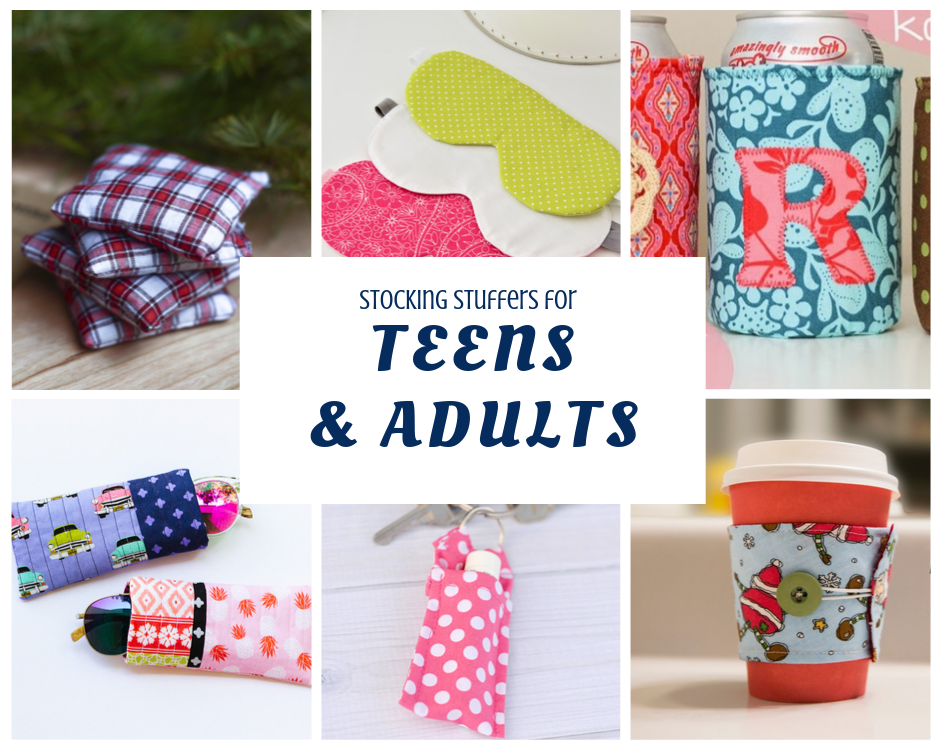 Stocking Stuffers for teens and adults to make with fabric scraps