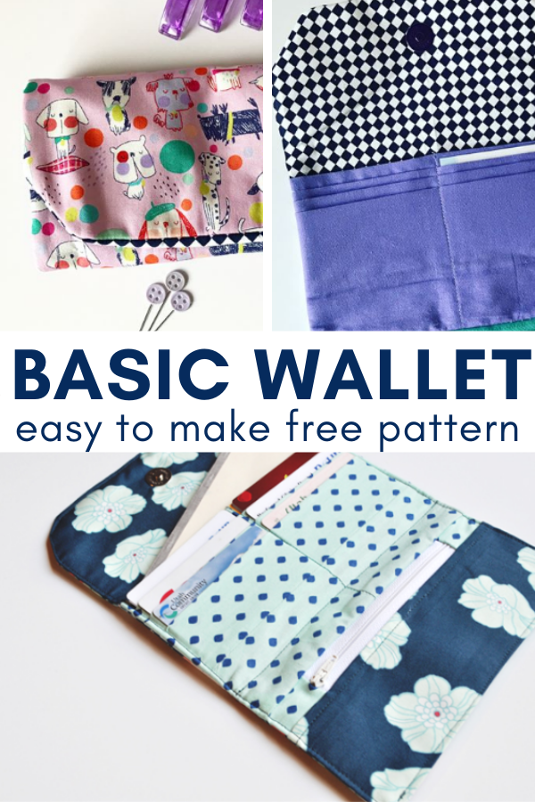 Turn your scrap fabric leftovers into a new wallet for the year. Pattern is free and perfect for all sewing skill levels. #Freepattern